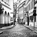 Empty Street In Prague by John Rizzuto