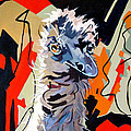 Emu Design In Acrylic by Rae Andrews
