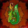 Enchanting Peacock 1 by Peter Awax