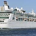 Enchantment Of The Seas Heading To Sea by Bradford Martin