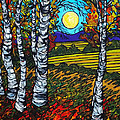 End Of Summer Birches by Tracy Levesque