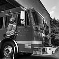 Engine 751 Bw by Mel Steinhauer