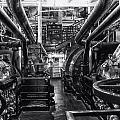 Engine Room Queen Mary 02 Bw 01 by Thomas Woolworth