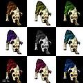 English Bulldog Dog Art - 1368 - V1 - M by James Ahn
