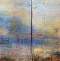 English Landscape 80 X 120 Diptych by Thomas Darnell