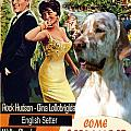 English Setter Art Canvas Print - Come September Movie Poster by Sandra Sij