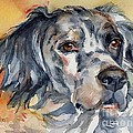 English Setter Portrait by Maria's Watercolor