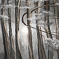 Enigmatic Woods- Shades Of Gray Art by Lourry Legarde