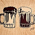 Enjoying Beer by Georgeta  Blanaru