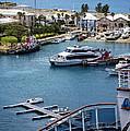 Enjoying The Harbor View by Lucinda Walter