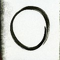 Enso #2 - Zen Circle Abstract Black And Red by Marianna Mills
