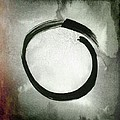 Enso #3 - Zen Circle Abstract Red And Black by Marianna Mills