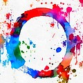 Enso Circle Paint Splatter by Dan Sproul