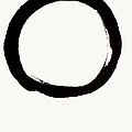 Enso Circle With Mushin Calligraphy  by Nadja Van Ghelue