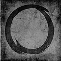 Enso No. 108 Black on Gray by Julie Niemela