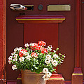 Entrance Door With Flowers by Heiko Koehrer-Wagner