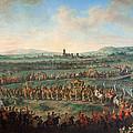 Entrance Of The Emperor Franz I Stephan And His Son Joseph II Into Frankfurt by Johann Dallinger Von Dalling