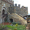 Entrance To Castello Di Amorosa In Napa Valley-ca by Ruth Hager