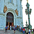 Entrance To Christ The Savior Cathedral In Moscow-russia by Ruth Hager