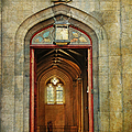 Entrance To The Gothic Revival Chapel. Streets Of Dublin. Painting Collection by Jenny Rainbow