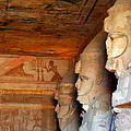 Entrance To The Great Temple Of Ramses II by Laurel Talabere