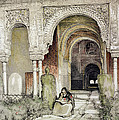 Entrance To The Hall Of The Two Sisters by John Frederick Lewis