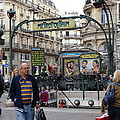 Entrance To The Paris Metro by Ira Shander