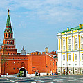 Entry Gate At Armory Museum Inside Kremlin Wall In Moscow-russia by Ruth Hager