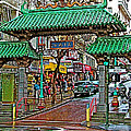 Entry Gate To Chinatown In San Francisco-california by Ruth Hager