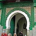 Entry To A Mosque For Men Only In Tangiers-morocco by Ruth Hager