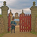 Entry To Fortress In Louisbourg Living History Museum-1744-ns by Ruth Hager