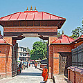Entry To Pasupatinath Temple Of Cremation Complex In Kathmandu-nepal    by Ruth Hager