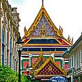 Entryway To Middle Court Of Grand Palace Of Thailand In Bangkok by Ruth Hager