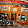 Enzo's Barber Shop by Michael Litvack