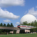 Epcot And The Monorail Ride by Lingfai Leung