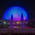 Epcot At Night - Spaceship Earth by Jeffrey Miklush