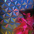 Epcot Centre Abstract by John Malone