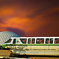 Epcot Riding The Rail by Thomas Woolworth