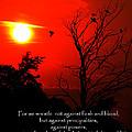 Ephesians Six Twelve by Ron  Tackett