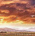 Epic Colorado Country Sunset Landscape Panorama by James BO  Insogna