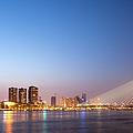 Erasmus Bridge In Rotterdam At Dusk by Artur Bogacki