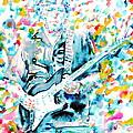 Eric Clapton - Watercolor Portrait by Fabrizio Cassetta
