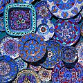Erice Italy Plates Blue by Mike Nellums
