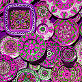 Erice Sicily Plates Pink by Mike Nellums