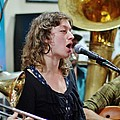 Erika Lewis With Tuba Skinny by William Morgan