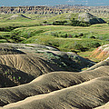 Eroded Landscape Badlands Np by Gerry Ellis