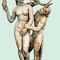 Aphrodite, Pan And Eros by Ellen Henneke