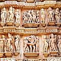 Erotic Human Sculptures Khajuraho India by Rudra Narayan  Mitra