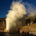 Eruption Along The Firehole by Adam Jewell