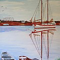 Essex Harbor Reflections by Bill Hubbard